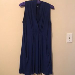 Royal Blue Bar iii dress tie waist pockets M